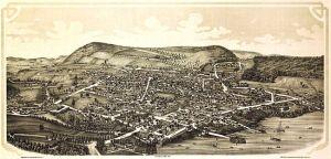 Cooperstown depicted in 1890